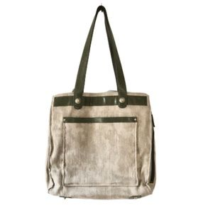 Osgoode Marley Linen and Leather Large Tote